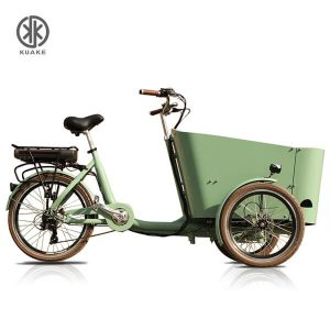 KK6006 Green Front Loader Electric Cargo Tricycle