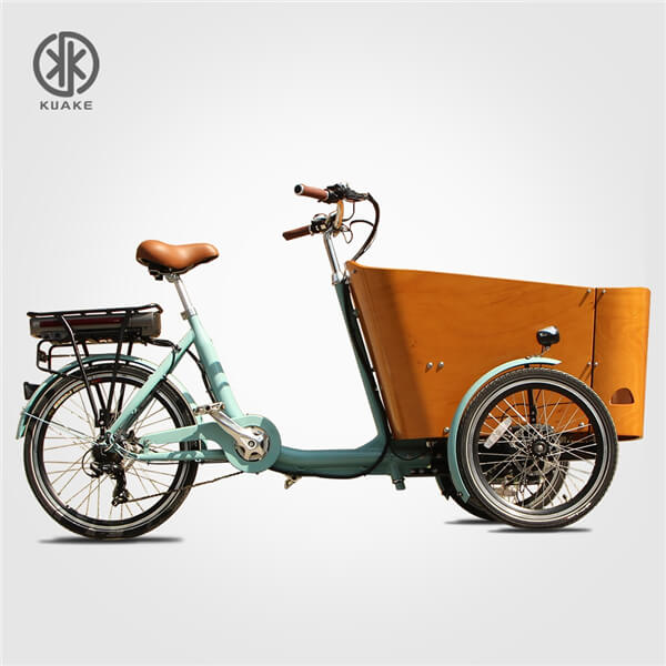KK6006 Orange Front Loader Electric Cargo Tricycle