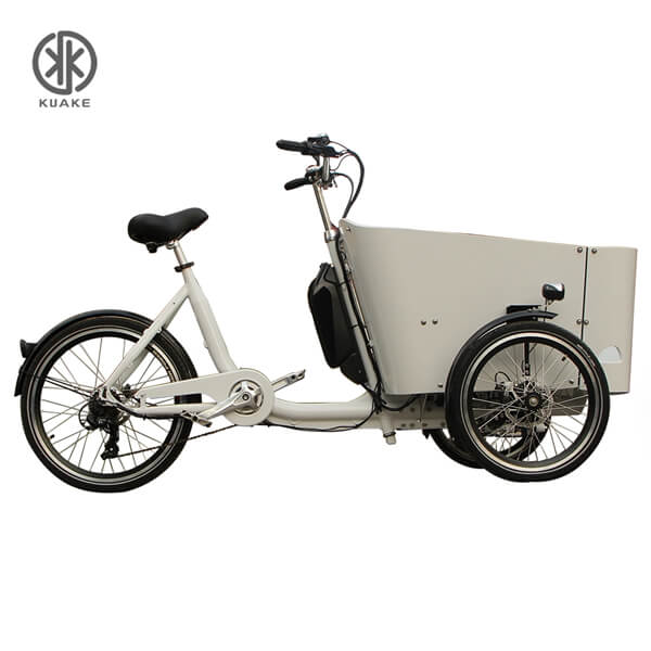 KK6006 Silver Grey Front Loader Electric Cargo Tricycle