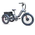 KK6007 Silver Grey Front Loader Electric Cargo Tricycle