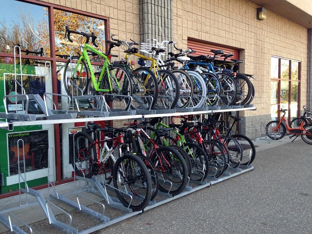 double decker bicycle racks