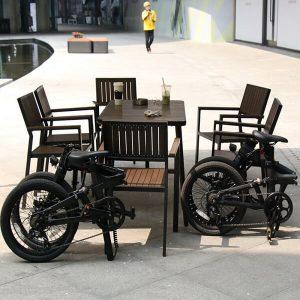 KK7016 Full Carbon Fibre Folding E-Bike Folding Size