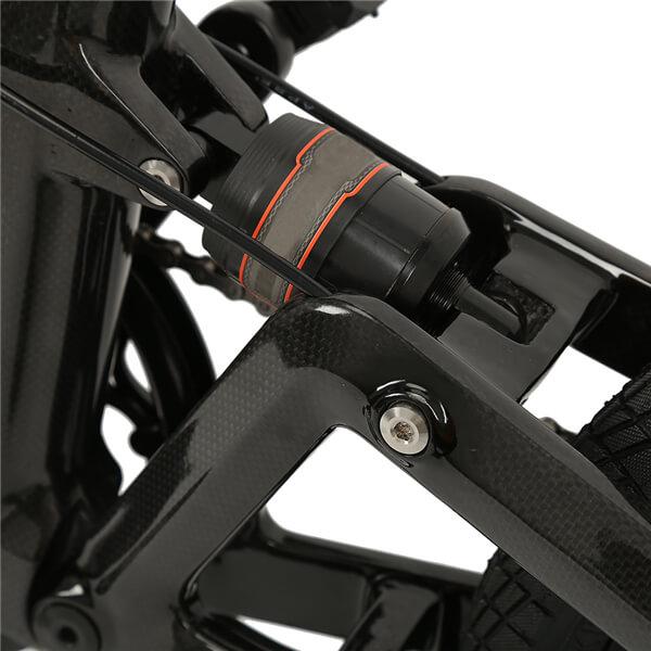 KK7016フルカーボンファイバー折りたたみ式電動自転車サスペンション