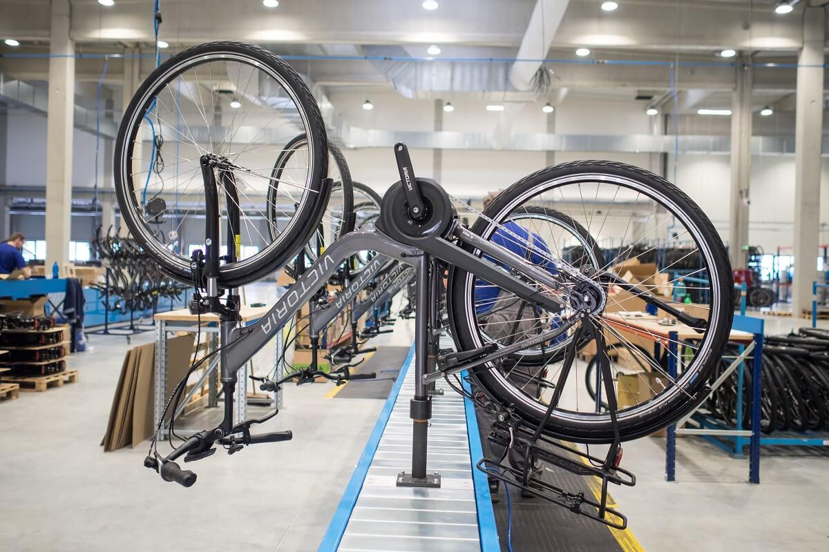 Usine de vélos électriques en Chine
